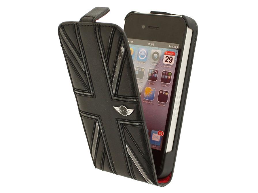 Mini Cooper Black Jack Flip Case Hoesje Voor Iphone 4 4s