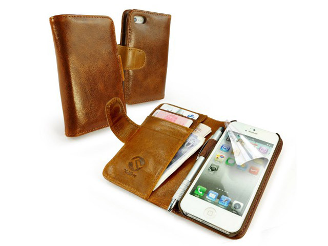 Case Design motorola moto g phone case : Tuff-Luv Vintage Leather Wallet Case voor iPhone 5/5S : KloegCom.nl