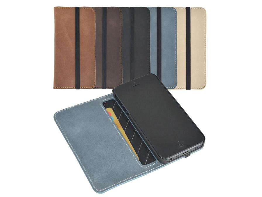 iErnest Card Holder 5 Echt Lederen Case voor iPhone 5/5S - KloegCom.nl