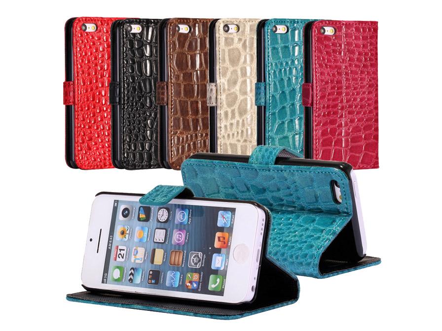 Croco Sideflip Wallet Case Hoesje voor iPhone 5C Mercedes Onderdelen