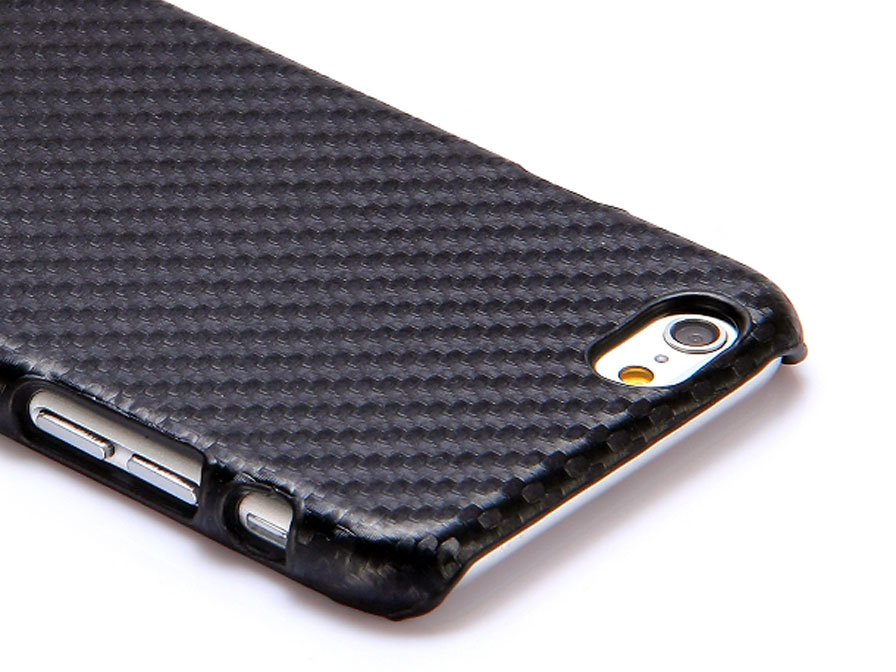 Carbon Leather Back Case Hoesje Voor Iphone 6 6s