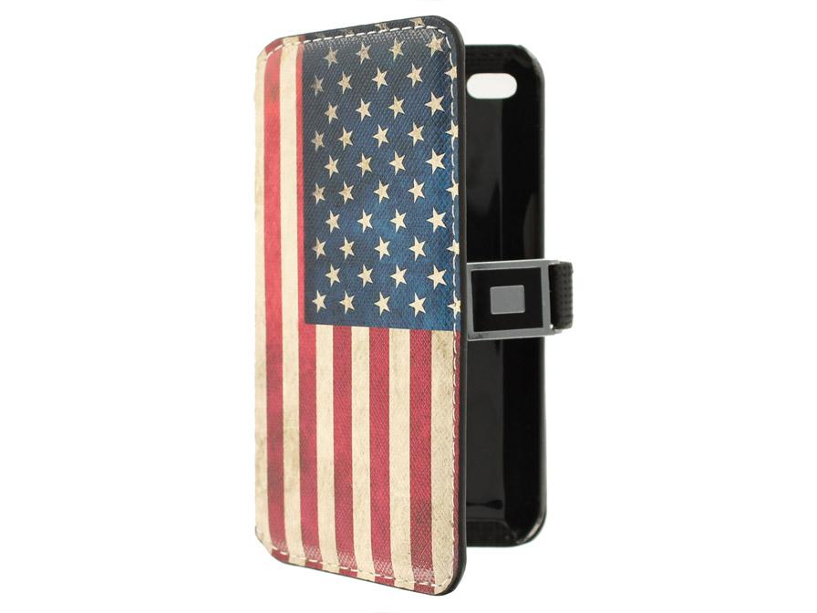 usa flag vintage sideflip hoesje mapje voor ipod touch 4g kloegcom