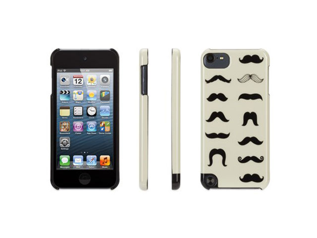 griffin mustachio hard case hoesje cover apple ipod touch. Black Bedroom Furniture Sets. Home Design Ideas