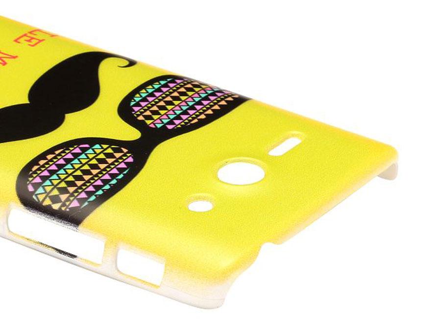 Huawei Ascend Y530 Sunglass Moustache Case Hoesje Cover Jpg