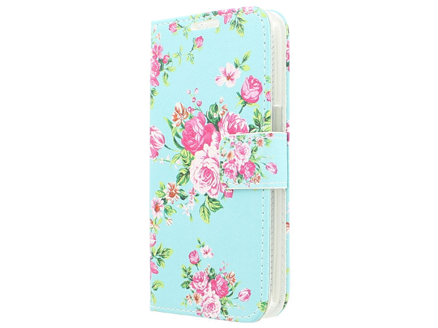 Flower Book Case Hoesje Voor Samsung Galaxy Core Prime