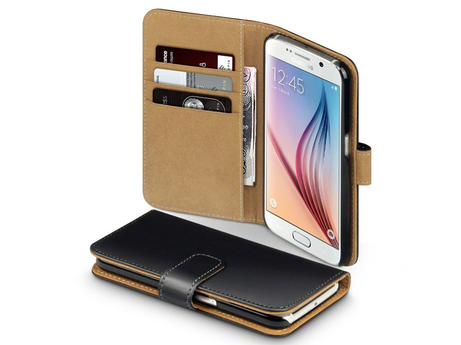 classic leather case wallet hoesje samsung galaxy s6 g920