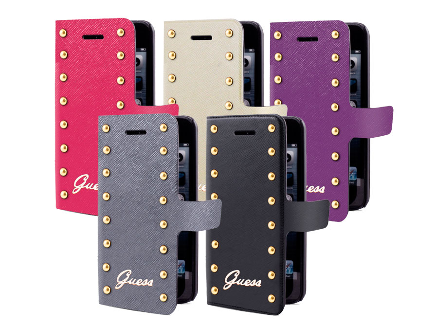 guess studs collection folio hoesje samsung galaxy s5