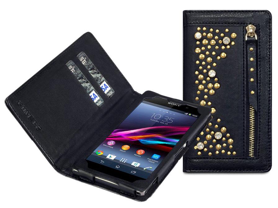 Covert Stardust Studded Wallet Case Hoesje Voor Sony Xperia Z1