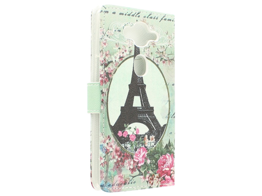 Retro Paris Book Case Hoesje voor Acer Liquid E3