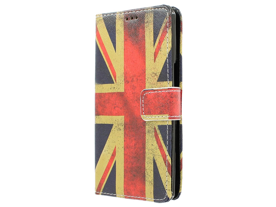 Vintage GB Flag Book Case Hoesje voor Acer Liquid E3