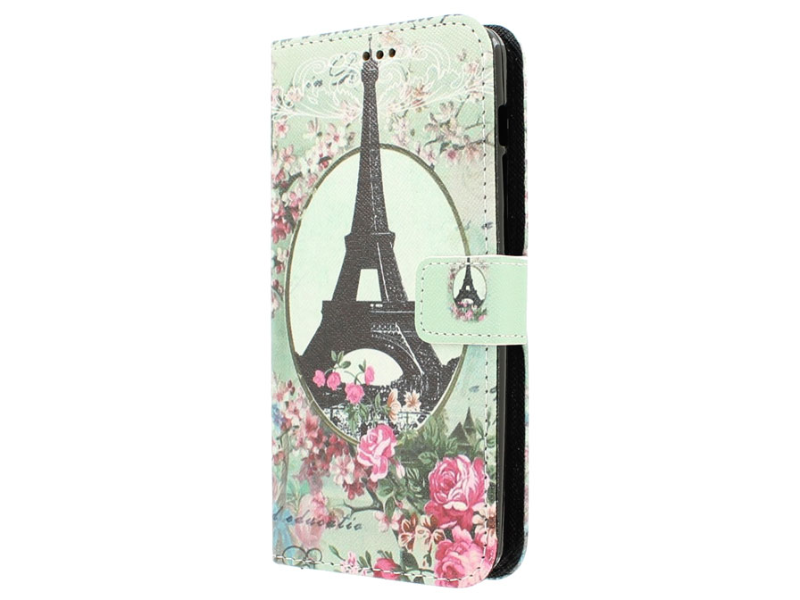Retro Paris Book Case Hoesje voor Acer Liquid E700