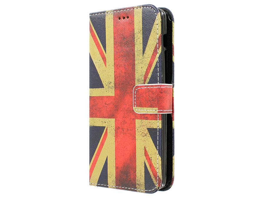 Vintage GB Flag Book Case Hoesje voor Acer Liquid E700