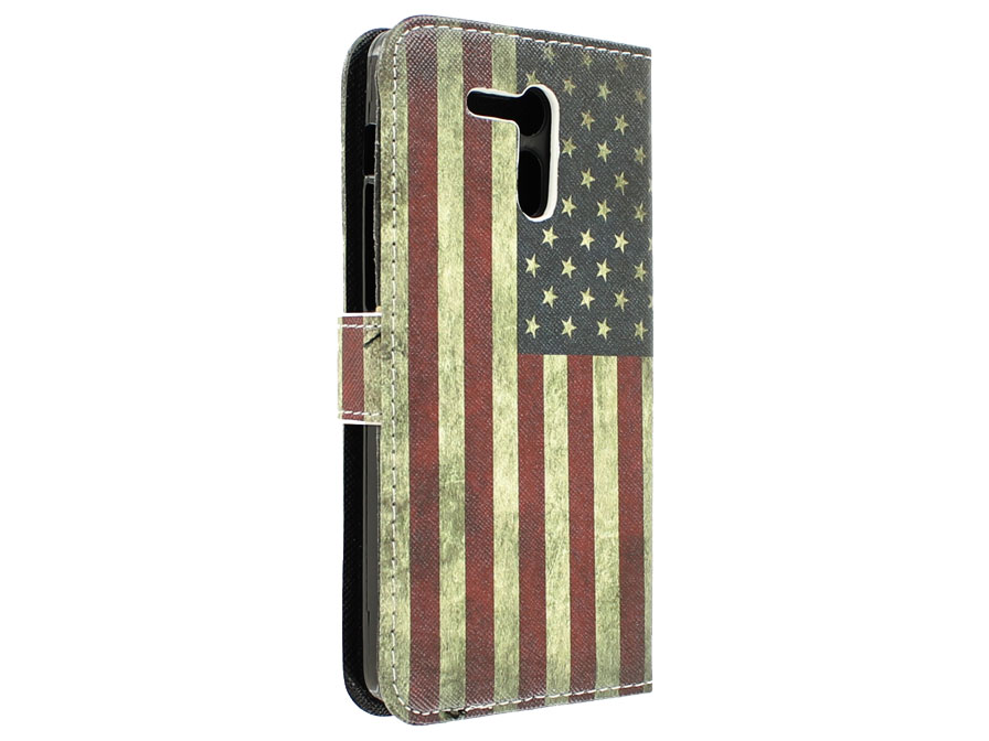 Vintage USA Flag Book Case Hoesje voor Acer Liquid E700