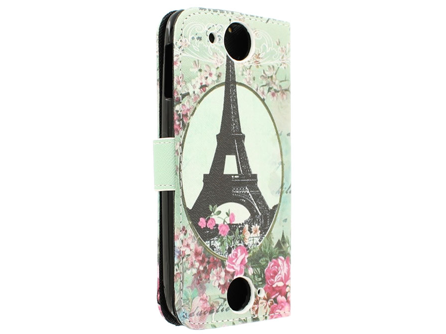 Retro Paris Book Case Hoesje voor Acer Liquid Jade S