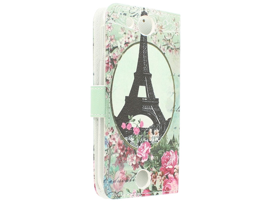 Retro Paris Book Case Hoesje voor Acer Liquid Jade Z
