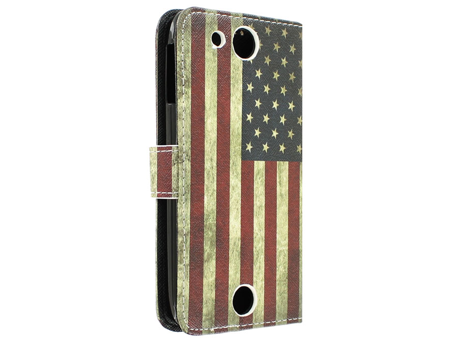 Vintage USA Flag Book Case Hoesje voor Acer Liquid Jade Z