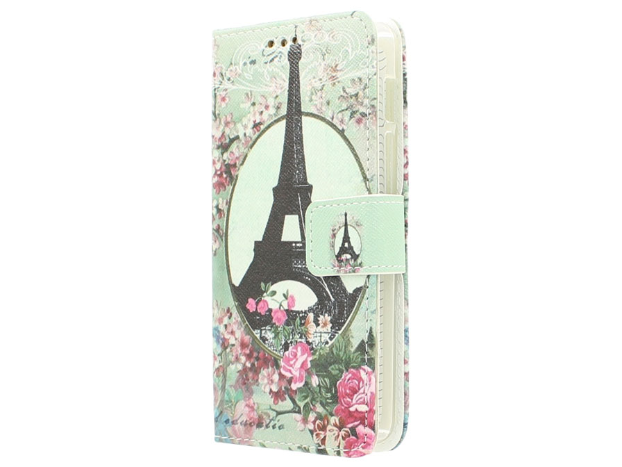 Retro Paris Book Case Hoesje voor Acer Liquid Z200