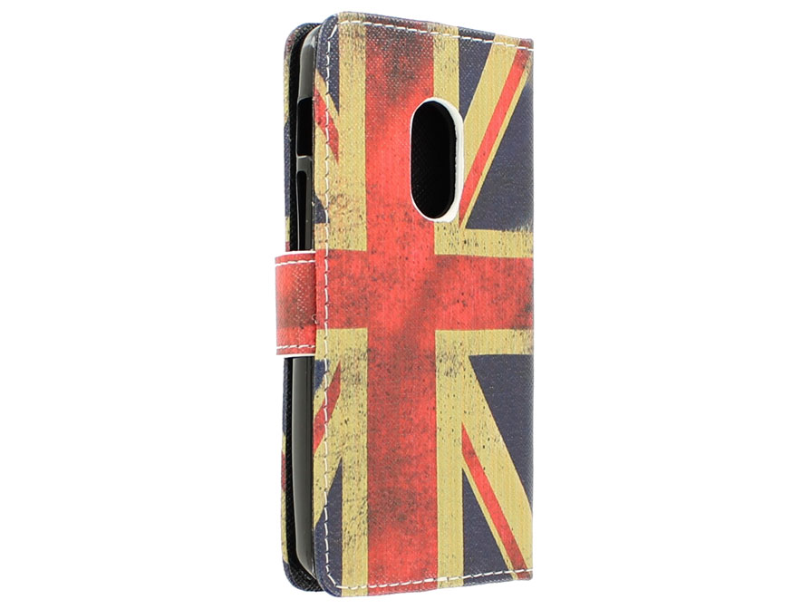 Vintage GB Flag Book Case Hoesje voor Acer Liquid Z200