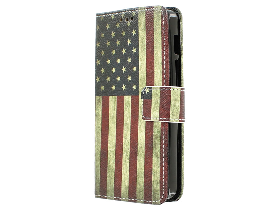 Vintage USA Flag Book Case Hoesje voor Acer Liquid Z200