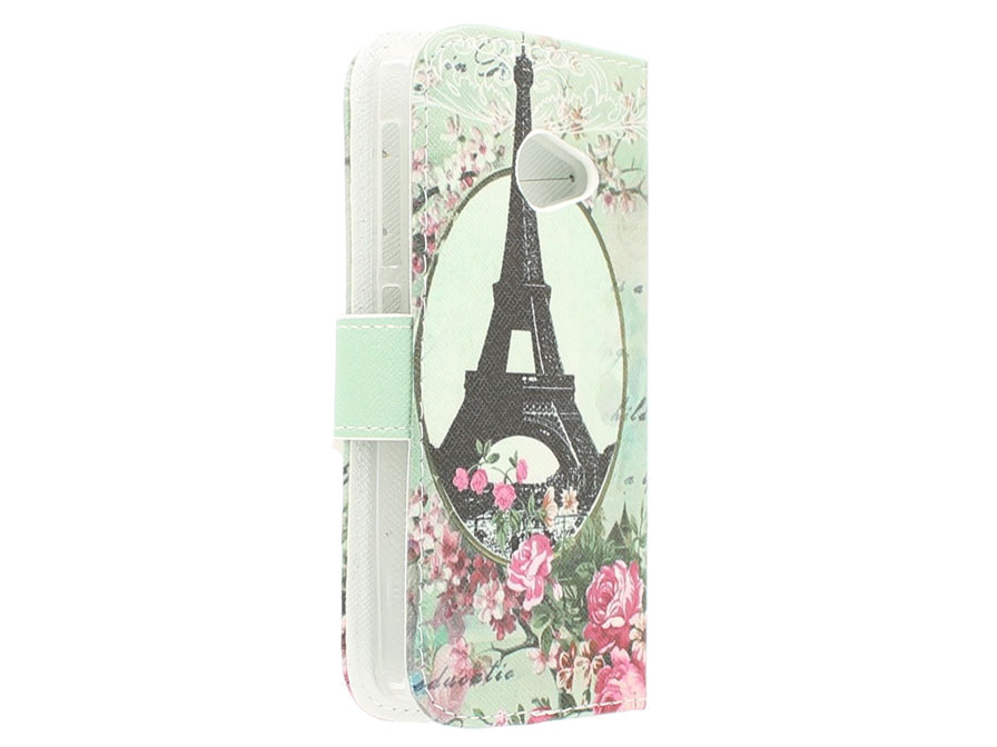 Retro Paris Book Case - Acer Liquid Z220 hoesje