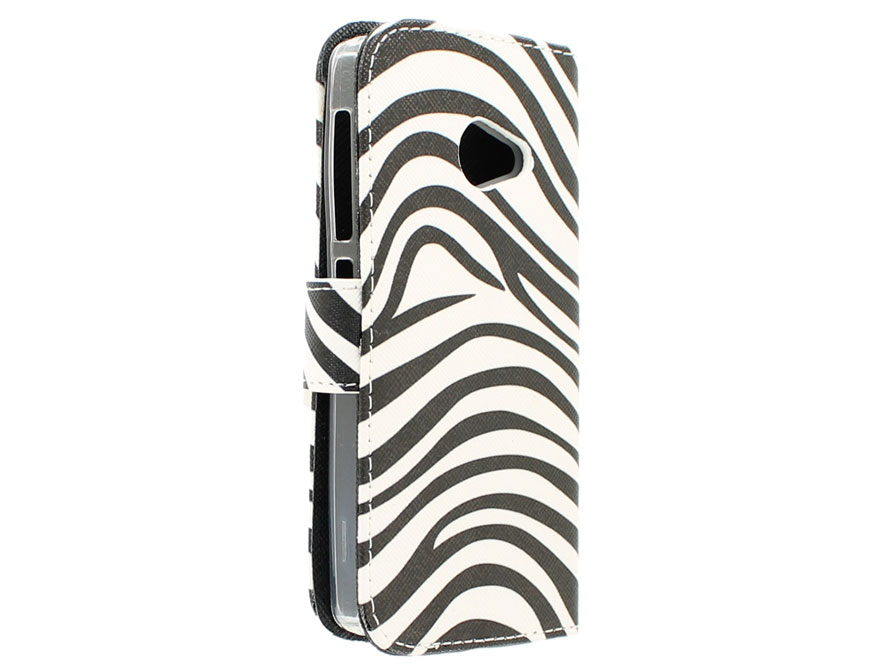 Zebra Book Case - Acer Liquid Z220 hoesje