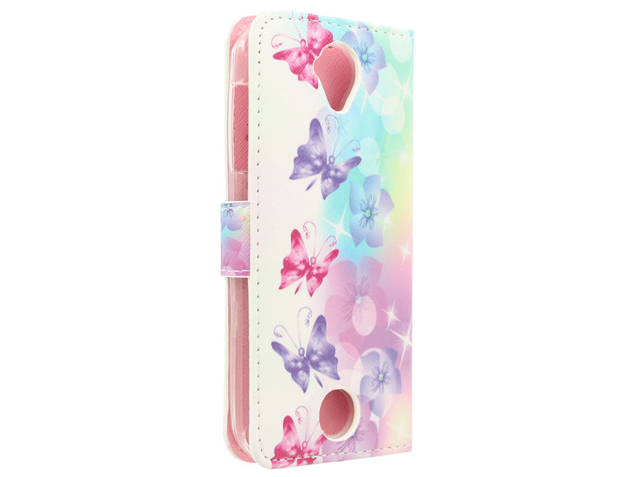 Acer Liquid Z330 Hoesje - Butterflies Book Case
