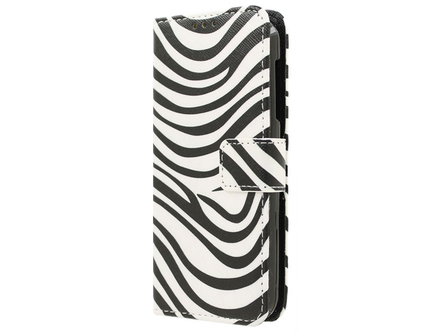 Acer Liquid Z330 Hoesje - Zebra Book Case