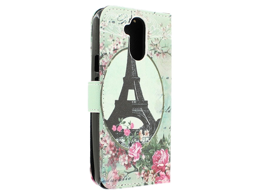 Retro Paris Book Case Hoesje voor Acer Liquid Z410
