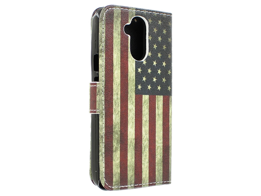 Vintage USA Flag Book Case Hoesje voor Acer Liquid Z410