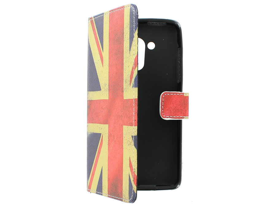 Vintage GB Flag Book Case Hoesje voor Acer Liquid Z500