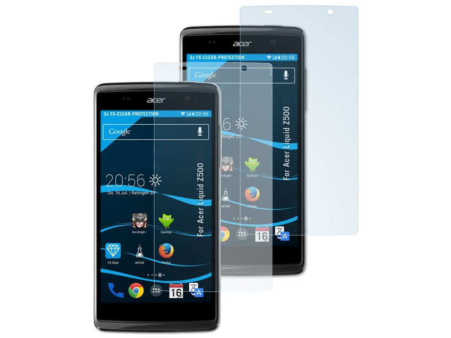 Clear Screenprotector voor Acer Liquid Z500 (2-pack)