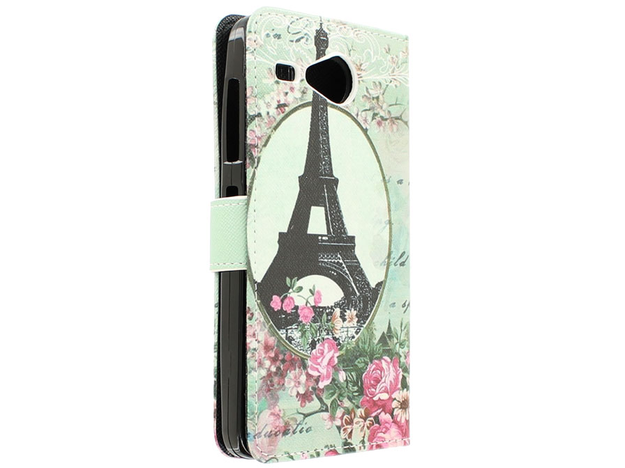 Retro Paris Book Case Hoesje voor Acer Liquid Z520