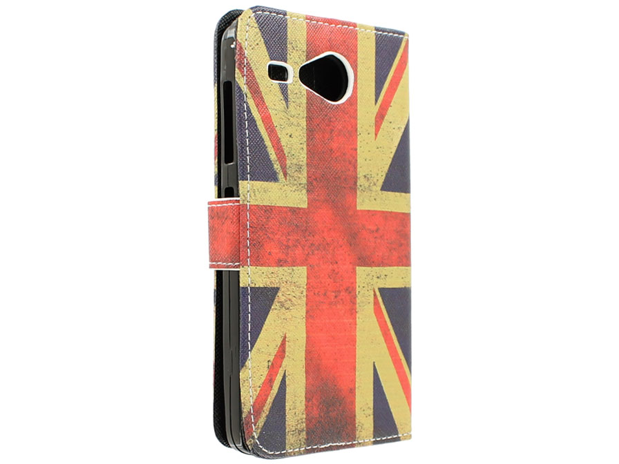 Vintage GB Flag Book Case Hoesje voor Acer Liquid Z520