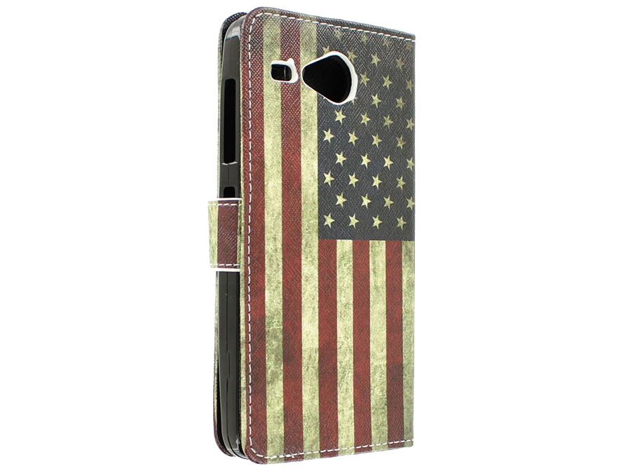 Vintage USA Flag Book Case Hoesje voor Acer Liquid Z520