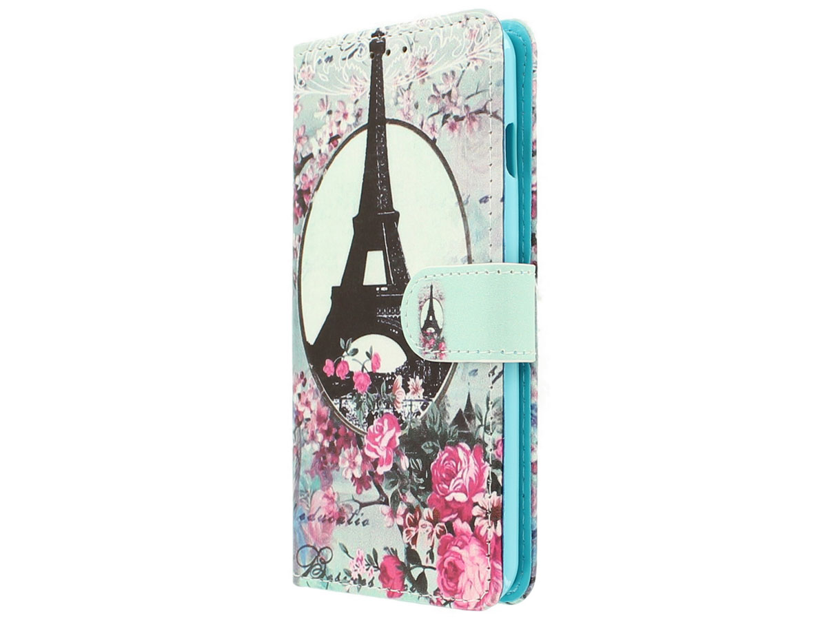 Retro Paris Bookcase Flipcase - Acer Liquid Z6 hoesje