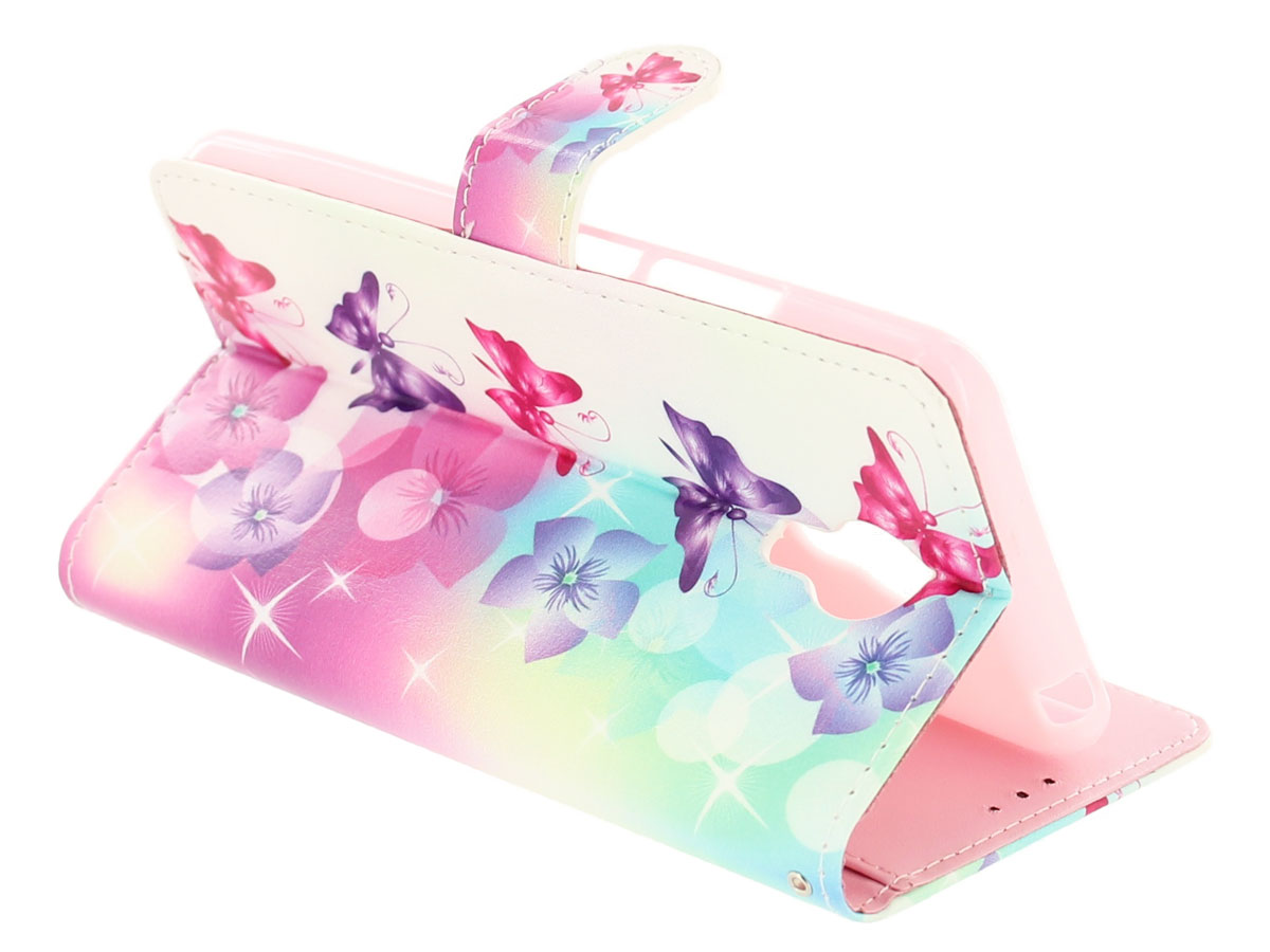 Butterflies Bookcase - Acer Liquid Z6 Plus hoesje