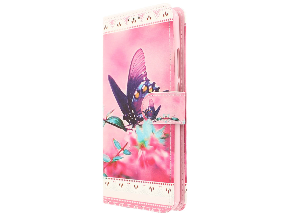 Butterfly Bookcase - Acer Liquid Z6 Plus hoesje
