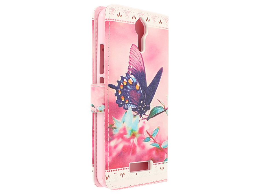 Butterfly Bookcase - Acer Liquid Zest Plus hoesje