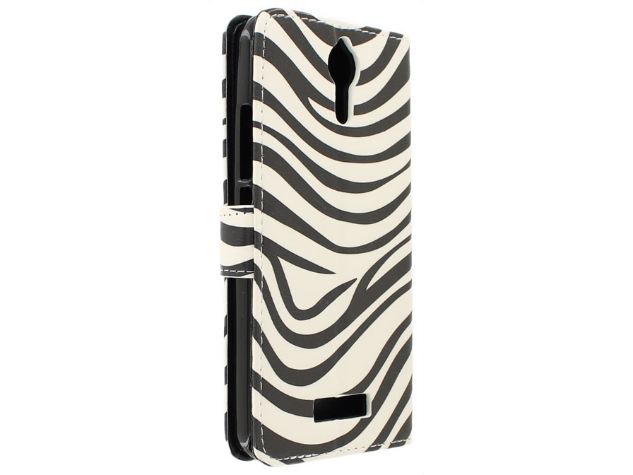 Zebra Bookcase - Acer Liquid Zest Plus hoesje