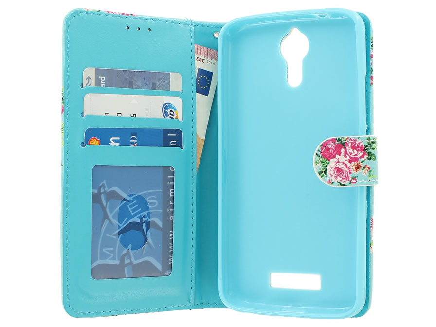 Flower Bookcase - Acer Liquid Zest Plus hoesje