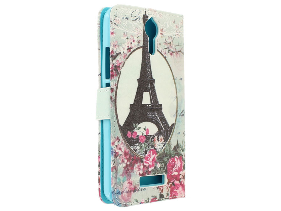 Retro Paris Bookcase - Acer Liquid Zest Plus hoesje