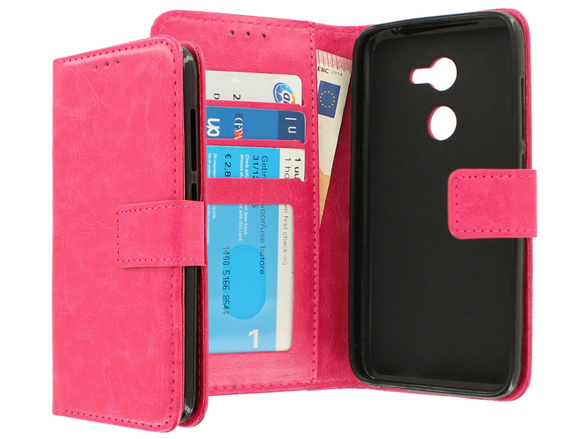 Wallet Bookcase Roze - Alcatel A3 hoesje