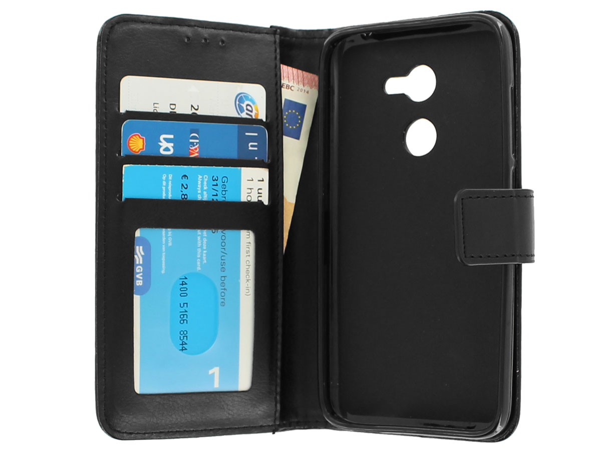 Wallet Bookcase Zwart - Alcatel A3 hoesje