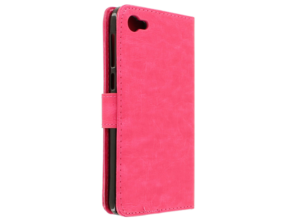 Wallet Bookcase Roze - Alcatel A5 LED hoesje