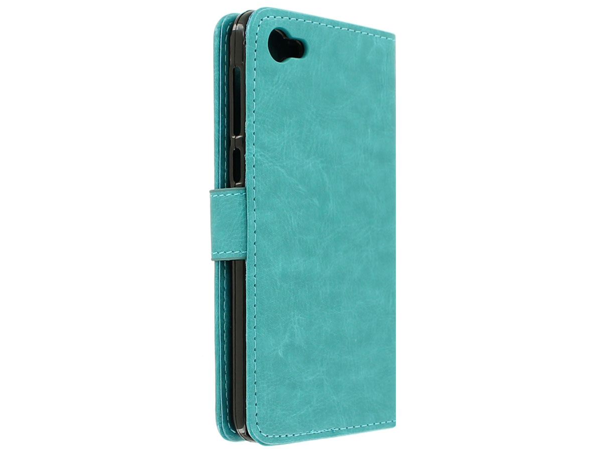 Wallet Bookcase Turquoise - Alcatel A5 LED hoesje
