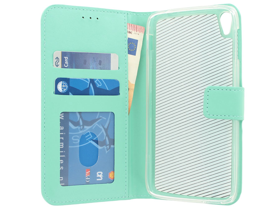 Wallet Bookcase Mint - Alcatel Idol 3 (5.5) Hoesje