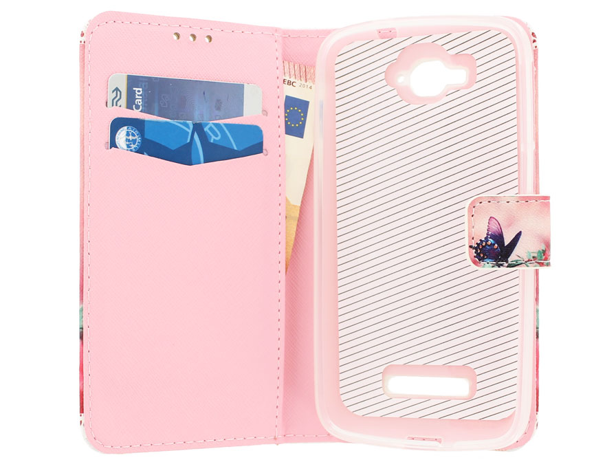 Butterfly Book Case - Alcatel One Touch Pop C7 Hoesje
