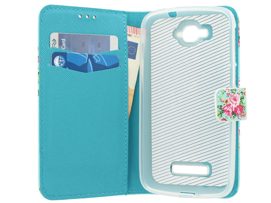Flower Book Case - Alcatel OneTouch Pop C7 hoesje