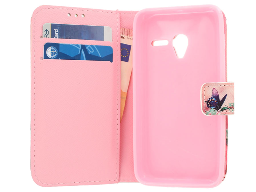 Butterfly Book Case - Alcatel PIXI 3 4.5 hoesje