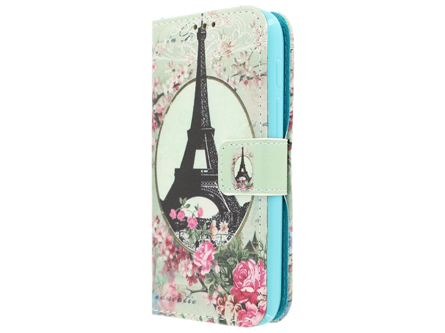 Retro Paris Book Case - Alcatel PIXI 3 4.5 hoesje